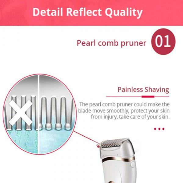 USB Electric Waterproof Hair Trimmer Epilator with LCD Display_8