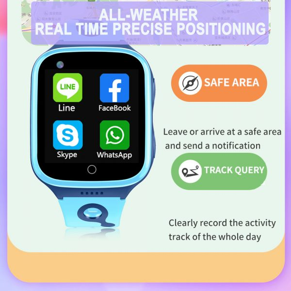 A68S 4G Children's SOS Smart Phone Watch with Smart Positioning_6