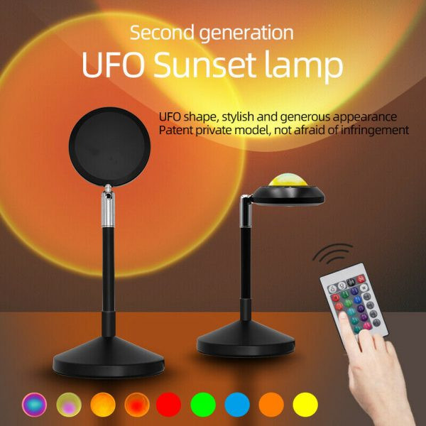 USB Plugged-in Remote Controlled 16 Colors LED Sunset Light Projector_5
