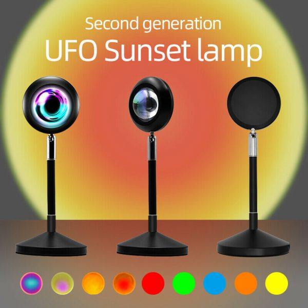 USB Plugged-in Remote Controlled 16 Colors LED Sunset Light Projector_6
