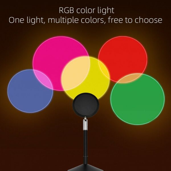 USB Plugged-in Remote Controlled 16 Colors LED Sunset Light Projector_9
