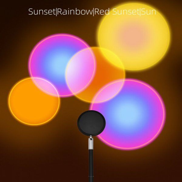 USB Plugged-in Remote Controlled 16 Colors LED Sunset Light Projector_10