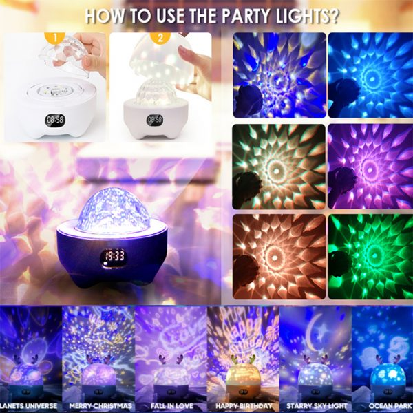 Multifunctional LED Light Projector and Bluetooth Music Lamp_4