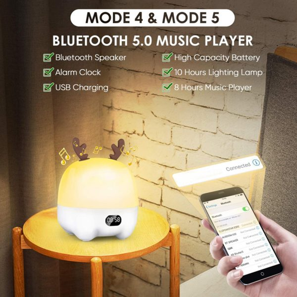 Multifunctional LED Light Projector and Bluetooth Music Lamp_6