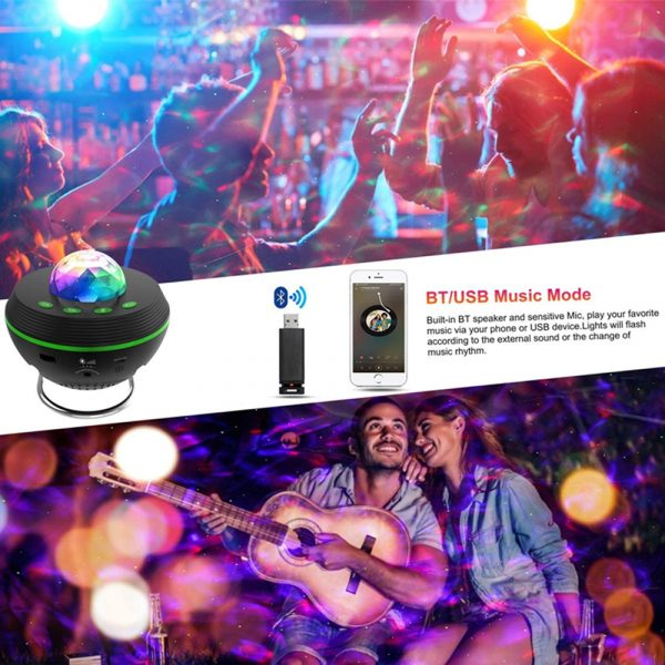 Galaxy Projector and Bluetooth Speaker Remote and Voice Control_12