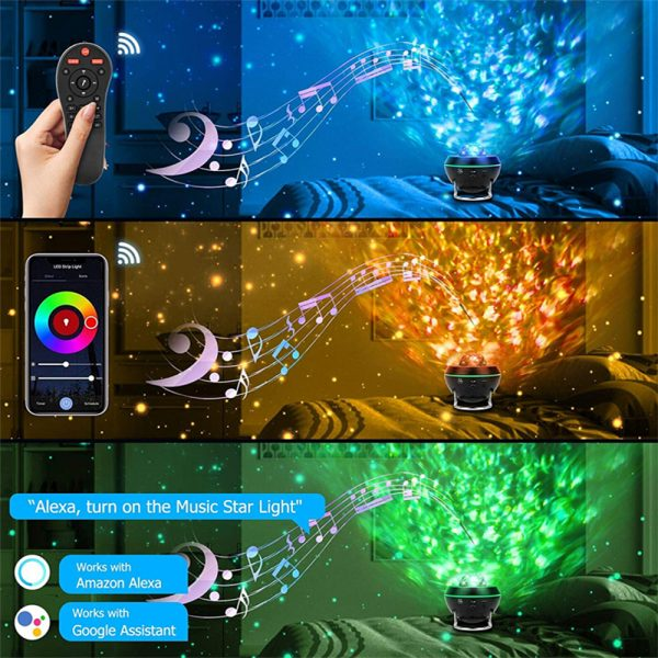 Galaxy Projector and Bluetooth Speaker Remote and Voice Control_5