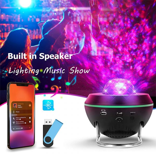 Galaxy Projector and Bluetooth Speaker Remote and Voice Control_6