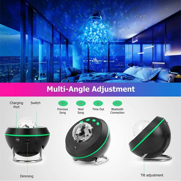 Galaxy Projector and Bluetooth Speaker Remote and Voice Control_7