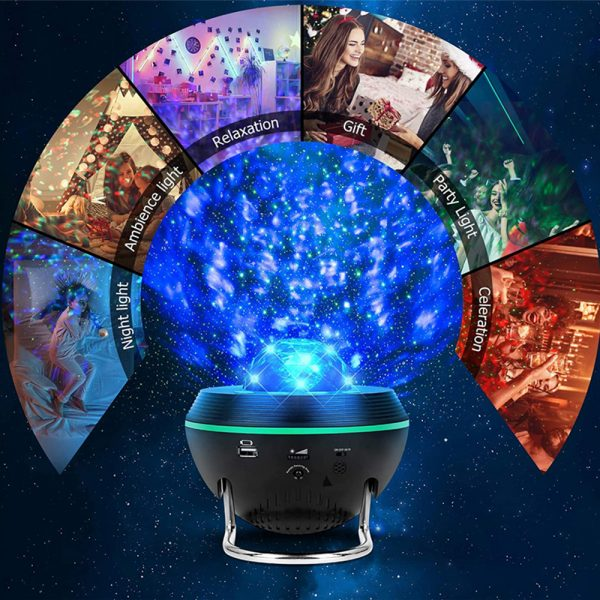 Galaxy Projector and Bluetooth Speaker Remote and Voice Control_8