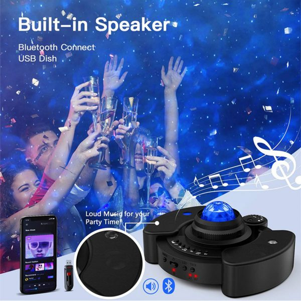 Galaxy Star Light Projector with Bluetooth Speaker Function_7
