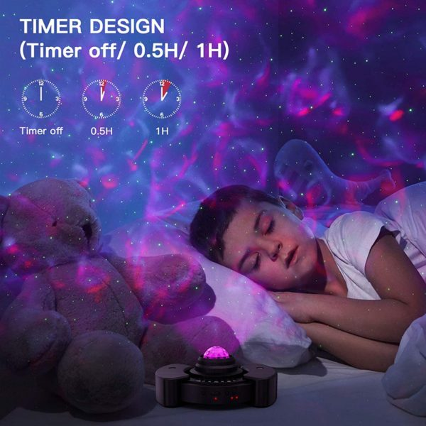 Galaxy Star Light Projector with Bluetooth Speaker Function_11