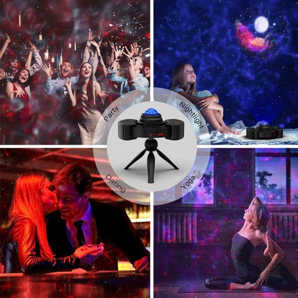 Galaxy Star Light Projector with Bluetooth Speaker Function_12