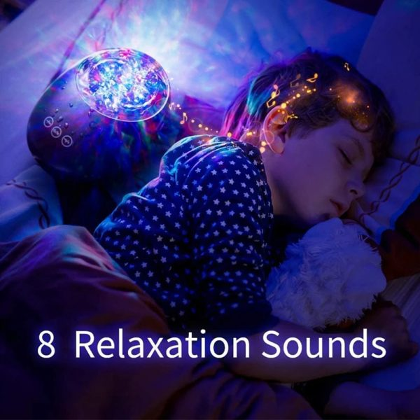 Remote Controlled 3-in-1 Galaxy Star Night Light with White Noise_6