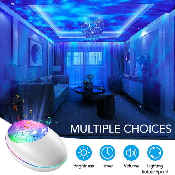 Remote Controlled 3-in-1 Galaxy Star Night Light with White Noise_9