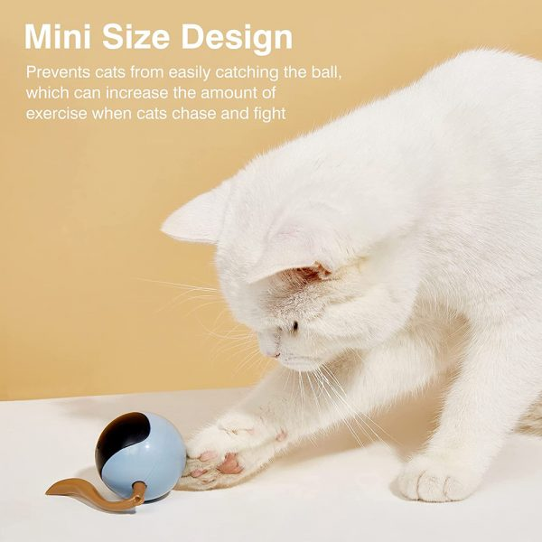 USB Rechargeable Interactive Colorful LED Self-Rotating Toy Ball_7