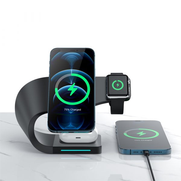 4-in-1 Multifunctional Fast Charging Magnetic Wireless Charger_3