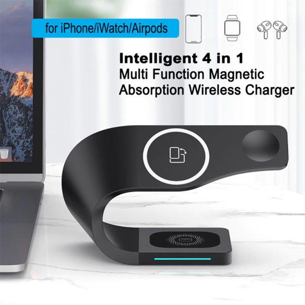 4-in-1 Multifunctional Fast Charging Magnetic Wireless Charger_5