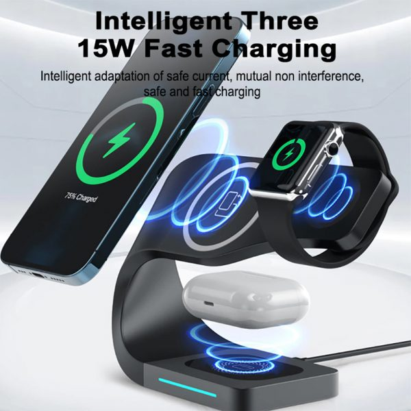 4-in-1 Multifunctional Fast Charging Magnetic Wireless Charger_6