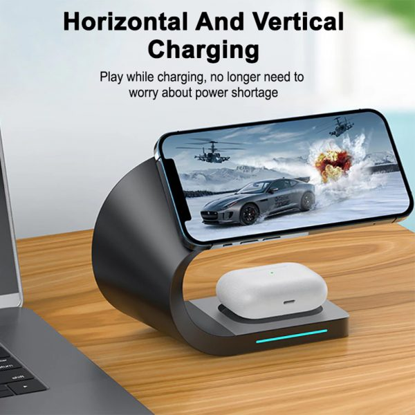4-in-1 Multifunctional Fast Charging Magnetic Wireless Charger_7