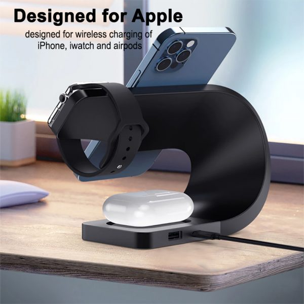 4-in-1 Multifunctional Fast Charging Magnetic Wireless Charger_8