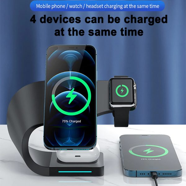 4-in-1 Multifunctional Fast Charging Magnetic Wireless Charger_9