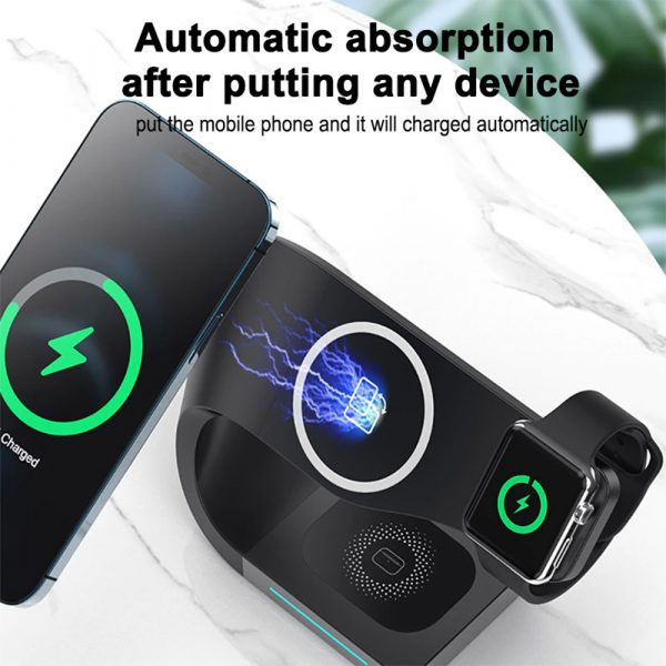 4-in-1 Multifunctional Fast Charging Magnetic Wireless Charger_10