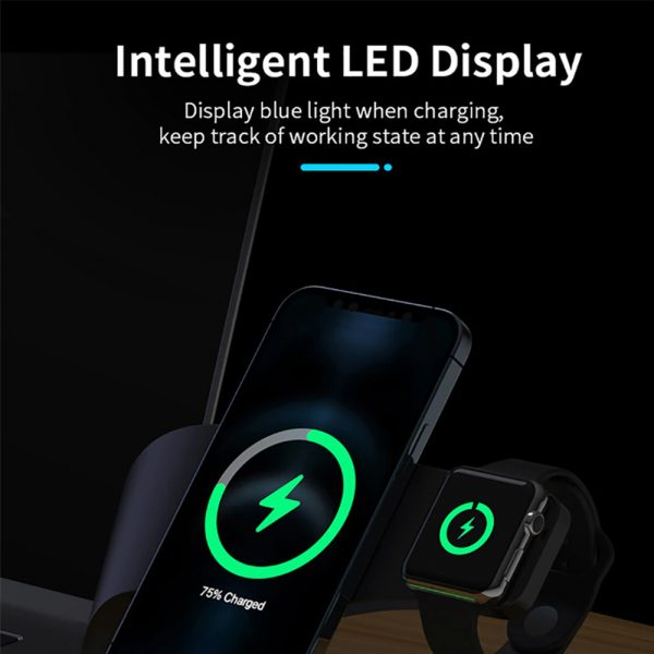 4-in-1 Multifunctional Fast Charging Magnetic Wireless Charger_11
