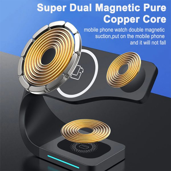 4-in-1 Multifunctional Fast Charging Magnetic Wireless Charger_12