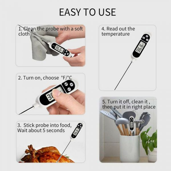 Instant Read Digital Food Meat Thermometer with LCD Display_7