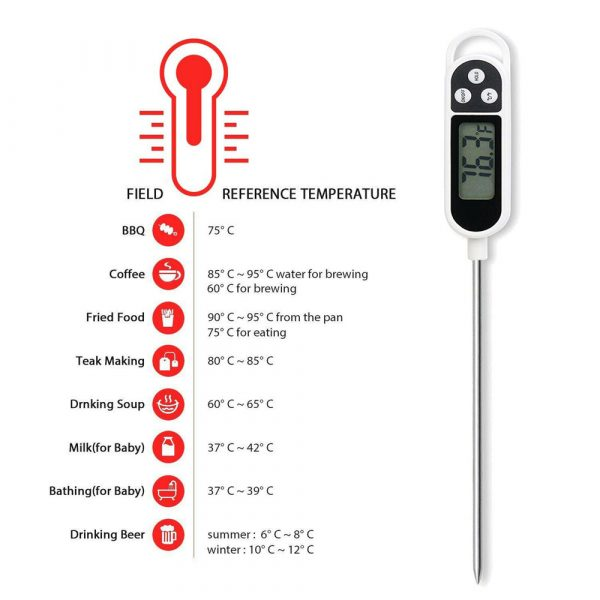 Instant Read Digital Food Meat Thermometer with LCD Display_9