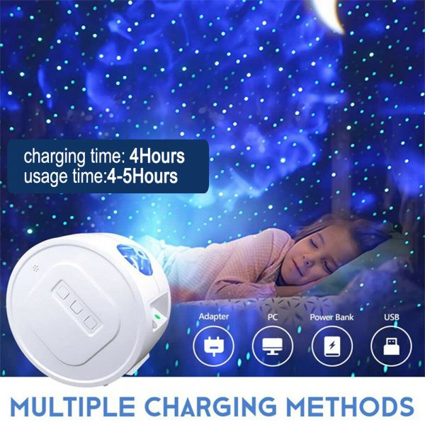 3-in-1 Nebula Moon and Starry Night Sky LED Light Projector_9