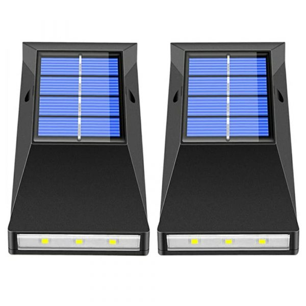 2pcs LED Outdoor Garden Solar Powered LED Wall Lamps_0