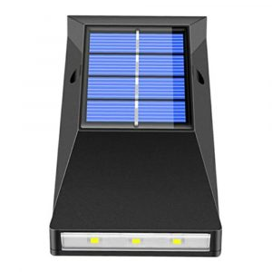 2pcs LED Outdoor Garden Solar Powered LED Wall Lamps