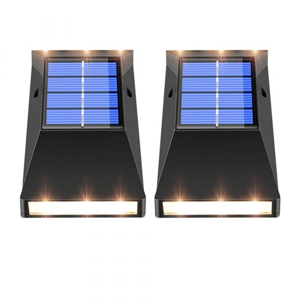 2pcs LED Outdoor Garden Solar Powered LED Wall Lamps_4