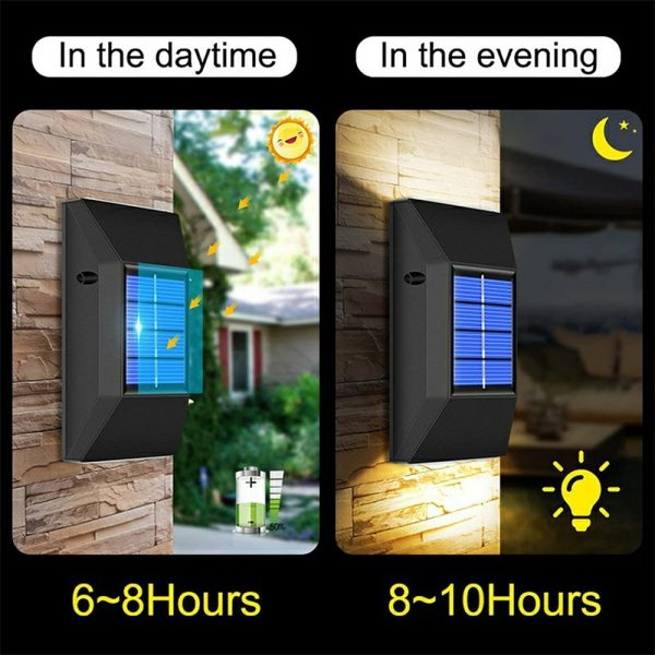 2pcs LED Outdoor Garden Solar Powered LED Wall Lamps_8