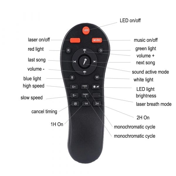 Galaxy Projector and Bluetooth Speaker Remote and Voice Control_11