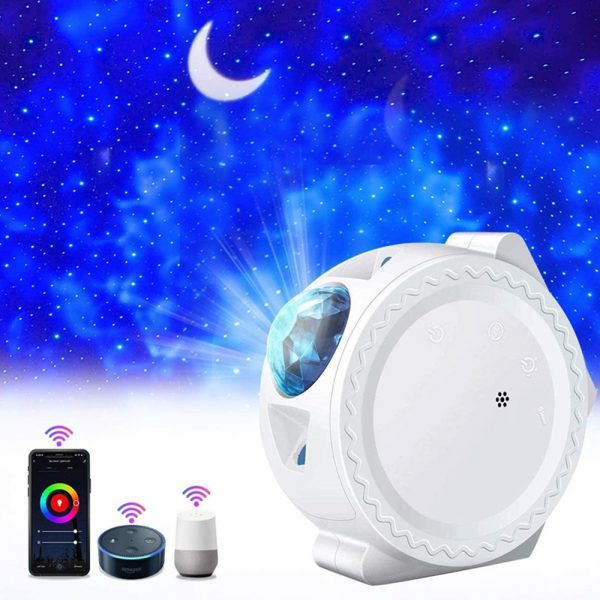 LED Night Light Wi-Fi Enabled Star Projector with Nebula Cloud_4