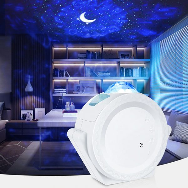 LED Night Light Wi-Fi Enabled Star Projector with Nebula Cloud_5