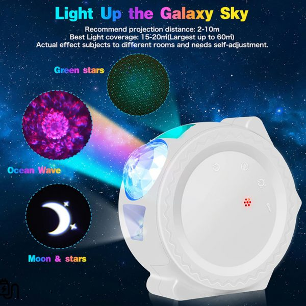 LED Night Light Wi-Fi Enabled Star Projector with Nebula Cloud_7