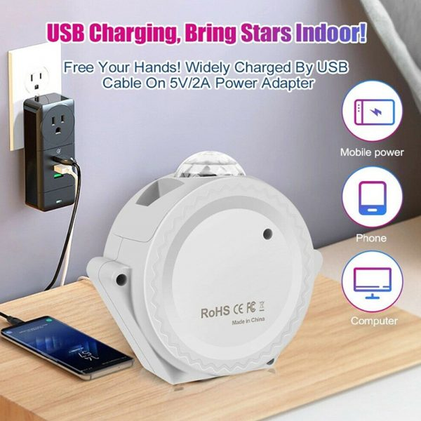 LED Night Light Wi-Fi Enabled Star Projector with Nebula Cloud_9