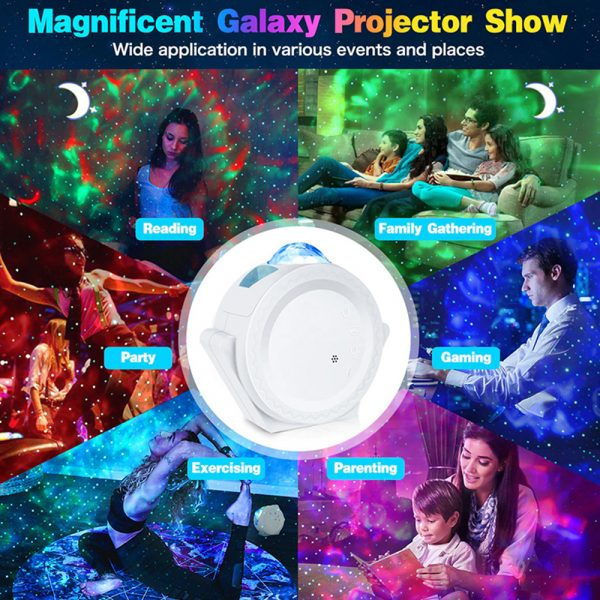 LED Night Light Wi-Fi Enabled Star Projector with Nebula Cloud_10