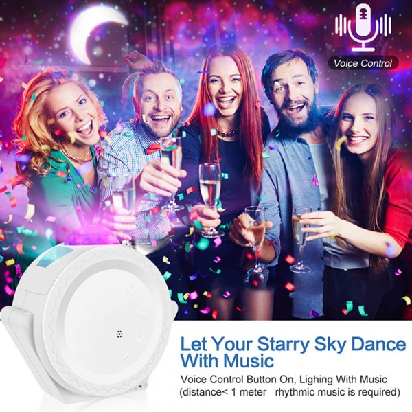 LED Night Light Wi-Fi Enabled Star Projector with Nebula Cloud_11