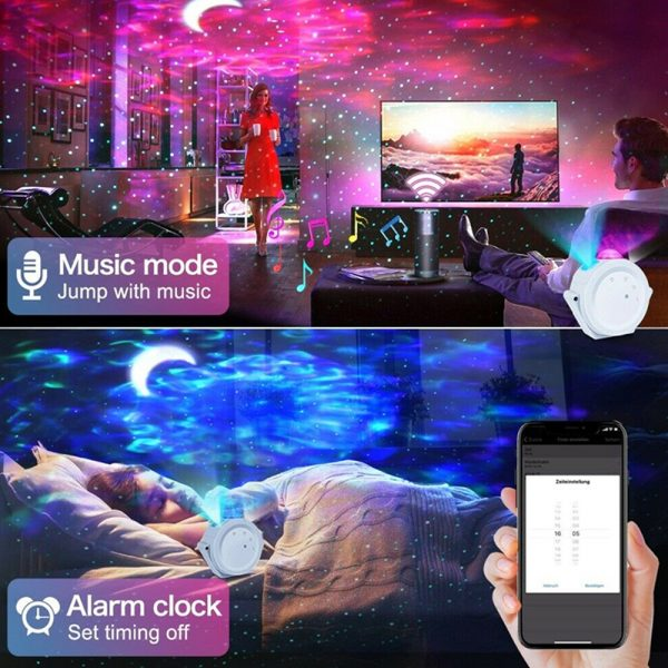LED Night Light Wi-Fi Enabled Star Projector with Nebula Cloud_12