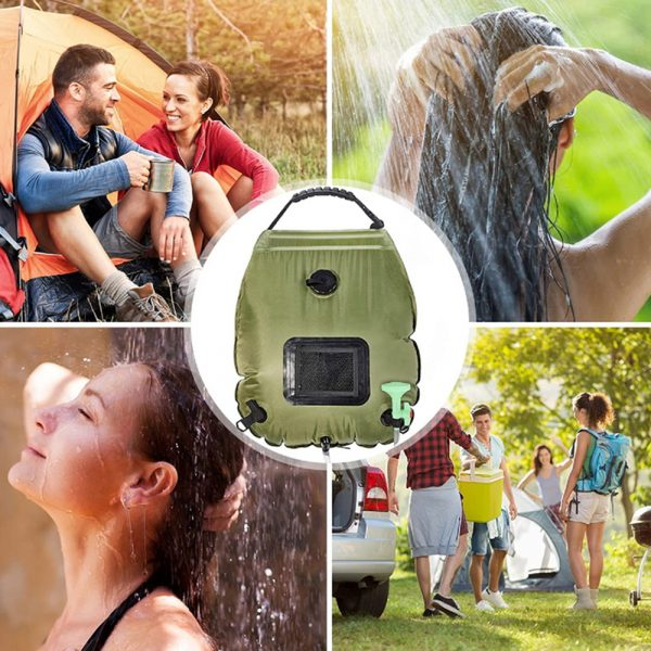 20L Outdoor Camping Hiking Portable Water Storage Shower Bag_10