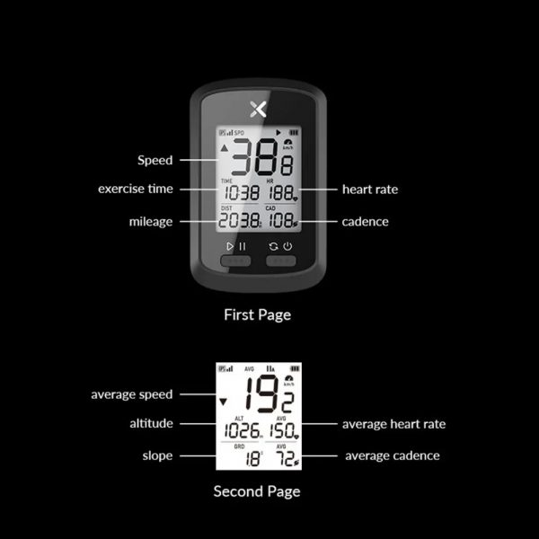 G+ Wireless GPS Bluetooth ANT+ with Cadence Cycling Odometer_3