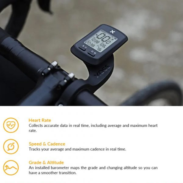 G+ Wireless GPS Bluetooth ANT+ with Cadence Cycling Odometer_6