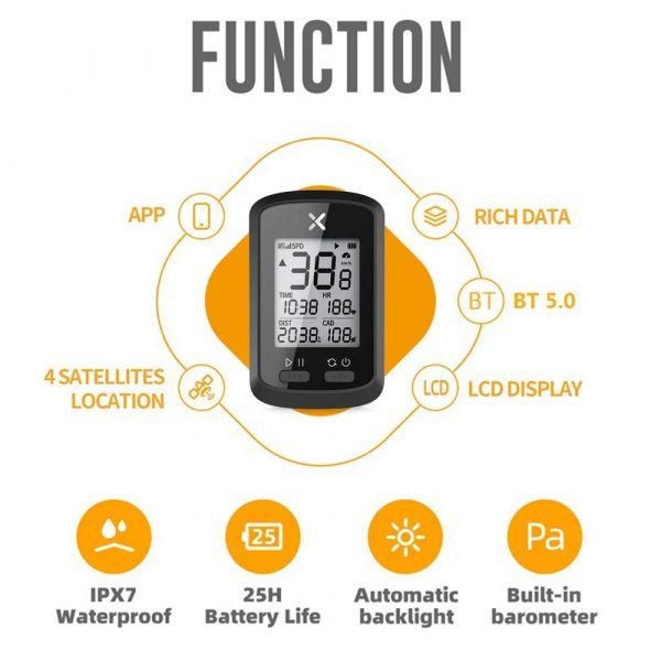 G+ Wireless GPS Bluetooth ANT+ with Cadence Cycling Odometer_10