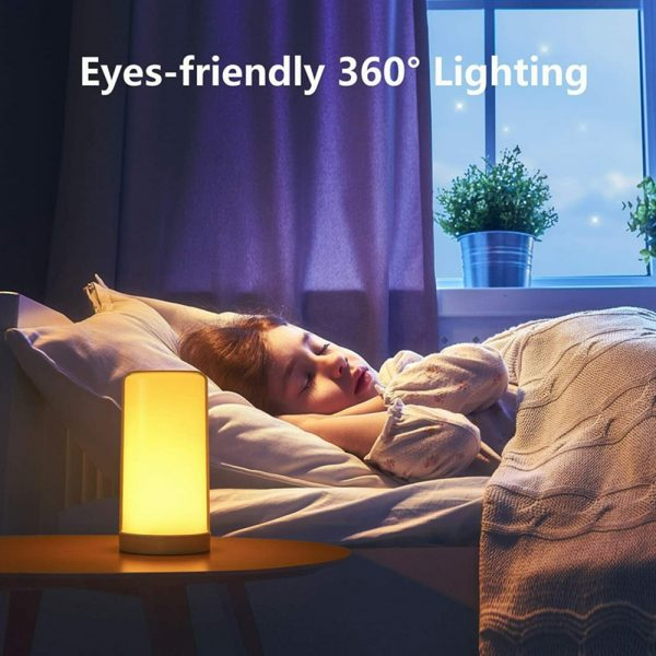 LED Touch Control Dimmable Bedside Night Light USB Desk Lamp_5