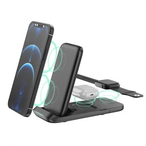 3-in-1 Fast Charging Wireless Charging Station for Qi Devices