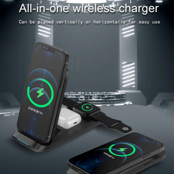 3-in-1 Fast Charging Wireless Charging Station for Qi Devices_5